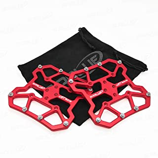SABLUE Universal Clipless to Platform Adapters Cleats Pedal for SPD Shimano Speedplay Bike Cycle (L-Red)