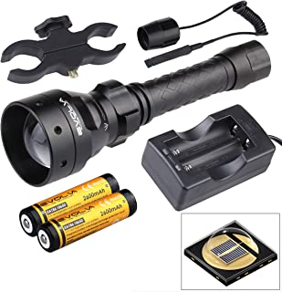 Evolva Future Technology T50 IR 50mm Lens Infrared Flashlight Night Vision Torch Light - Infrared Light is Invisible to Human Eyes