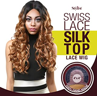 The Stylist Synthetic Lace Front Wig Swiss Lace Silk Top Curl-A-Licious (F1B/30)