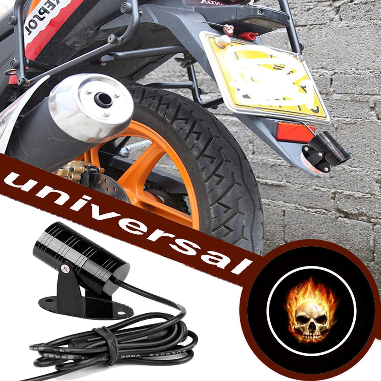 Folgemir Motorrad Logo Projektor Dc 12v Led Licht 3d Ghost Shadow Willkommen Lampe Mehr Als 200 Embleme Verfügbar Nr 117 Skelett Auto