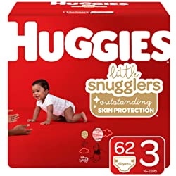 Huggies Little Snugglers Baby Diapers, Size 3 (16-28 lb.), 62 Ct, Big Pack (Packaging May Vary)