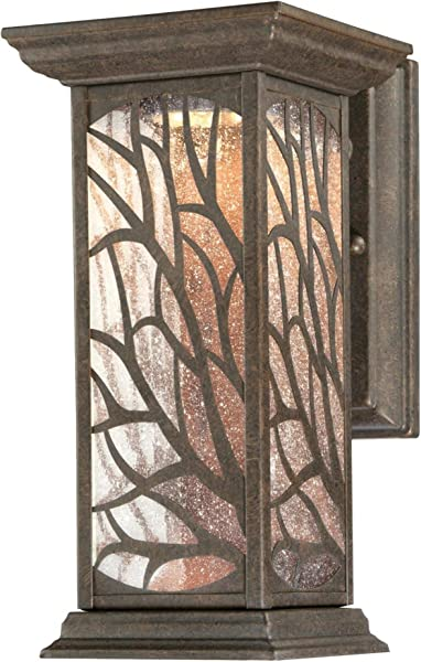 Westinghouse Lighting 6312000 Glenwillow One Light LED Victorian Bronze Finish With Clear Seeded Glass Outdoor Wall Fixture