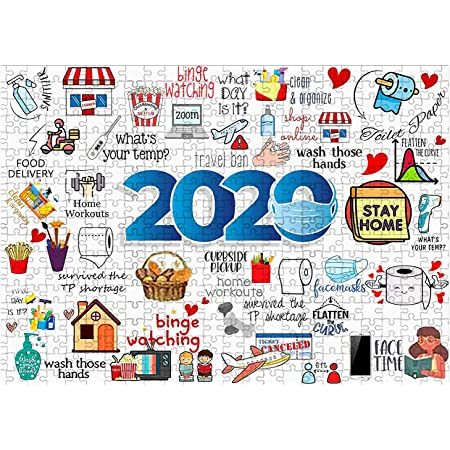 1000 Pieces 2020 to 2021 Puzzles for Adults Commemoration Jigsaw Puzzle Quarantine Event Jigsaw Puzzles Home Educational Toys for Boys Girls Stress Relief Game Play Collection and Home Decoration