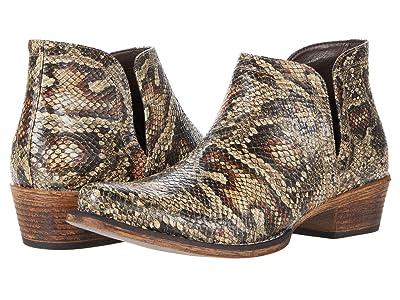 Roper Ava (Light Beige Faux Leather Python) Cowboy Boots