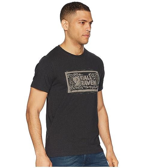 con logotipo estampada Fjällräven Camiseta gris oscuro de 50af0nwq