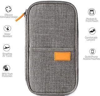 Famliy Passport Wallet RFID BlockingCredit ID Card Holder Pouch Security Document Travel Bag Waterproof