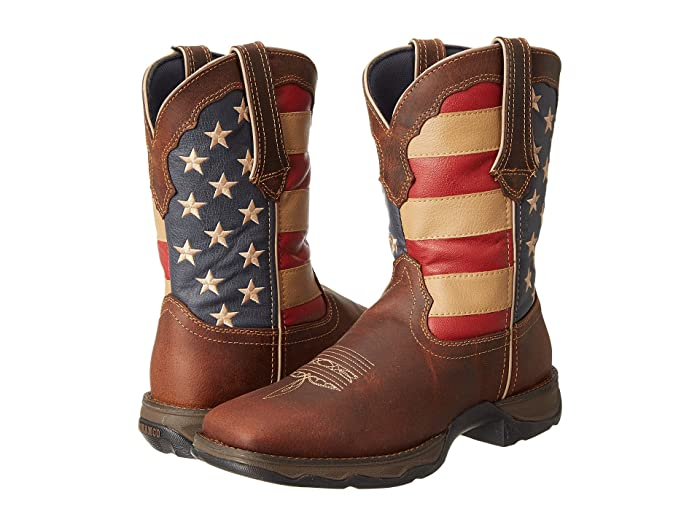 Durango  RD4414 - Flag (Dark Brown) Womens Pull-on Boots