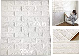 Lukzer (16 PC) 3D PE Foam Self Adhesive Brick Design Wall Stickers/DIY Wallpaper for Home Hotel Living Room Bedroom Cafe D...