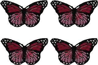 sew on butterfly motifs