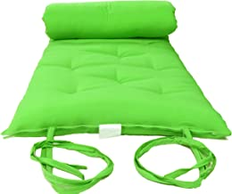 Queen Size Lime Traditional Japanese Floor Futon Mattresses, Foldable Cushion Mats, Yoga, Meditaion 60