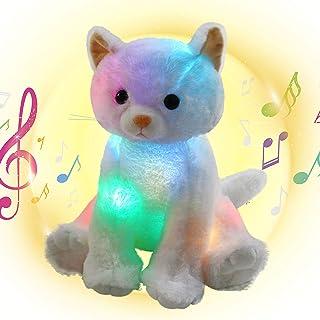 لعبة القطة المضيئة والموسيقى المزودة بمصابيح LED على شكل قطة تغني مرنة من هووسبيبي، مزودة بإضاءة ليد، هدايا عيد ميلاد متوه...