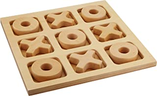 Sammons Preston Giant Tic-Tac-Toe Board, Large Wooden Playing & Gaming Board for Children, Adults, Elderly, 11.5