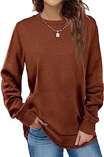 Dofaoo Sweatshirts for Women Crewneck Long Sleeve Shirts Tunic Tops for Leggings