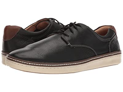 Johnston & Murphy McGuffey Casual Plain Toe Sneaker (Black Oiled Nubuck) Men