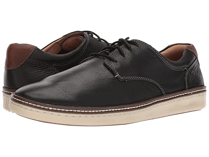 Johnston and Murphy  McGuffey Casual Plain Toe Sneaker (Black Oiled Nubuck) Mens Lace up casual Shoes