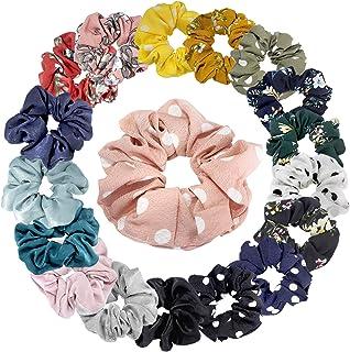 Hair Scrunchies Chiffon Flower Elastic Scrunchy Bobble Soft