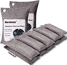 Marsheepy 12 Pack Bamboo Charcoal Air Purifying Bags, Activated Charcoal Odor Absorber, Shoe Deodorizer Bags, Odor Elimina...