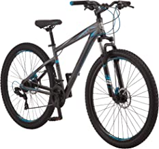 Mongoose Impasse Mens Mountain Bike, 29-Inch Wheels, Aluminum Frame, Twist Shifters, 21-Speed Rear Deraileur, Front and Re...