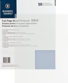 Business Source Top Loading Clear Sheet Protectors - Letter-Size - Box of 50 (37519)