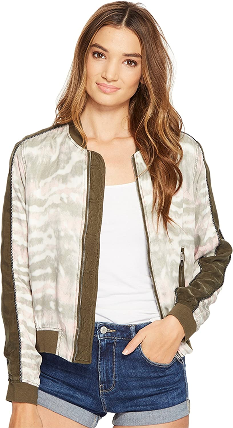 [BLANKNYC] Blank NYC Womens Novelty Detailed Bomber Jacket in Green Beaner