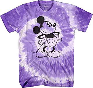 Mickey Mouse Attitude Tie Dye Classic Vintage Disneyland World Mens Adult Graphic Tee T-Shirt Apparel