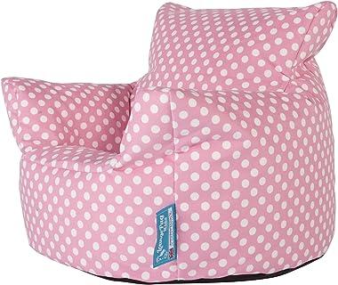 Lounge Pug®, Fauteuil Enfant, Pouf Enfant, Imprimé Rose à Pois