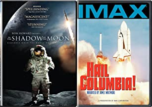 IMAX Hail Columbia Space Shuttle + In the Shadow of the Moon Explore & Experience Space DVD Bundle 2 Pack