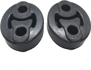 Exhaust Hanger Rubber Insulator Bracket Bushing Mount Muffler Shock Absorbent 12mm ID 2 Hole Universal, Pack of 2