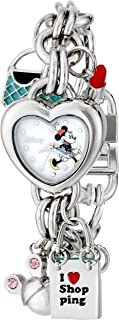Women's MN2010 Minnie Mouse Mother-of-Pearl Dial Charm Watch