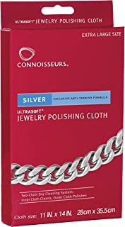 Connoisseurs Silver Polishing Cloth Jewelry Cleaner