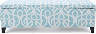 Christopher Knight Home Living Clor Azure Fabric Storage Ottoman