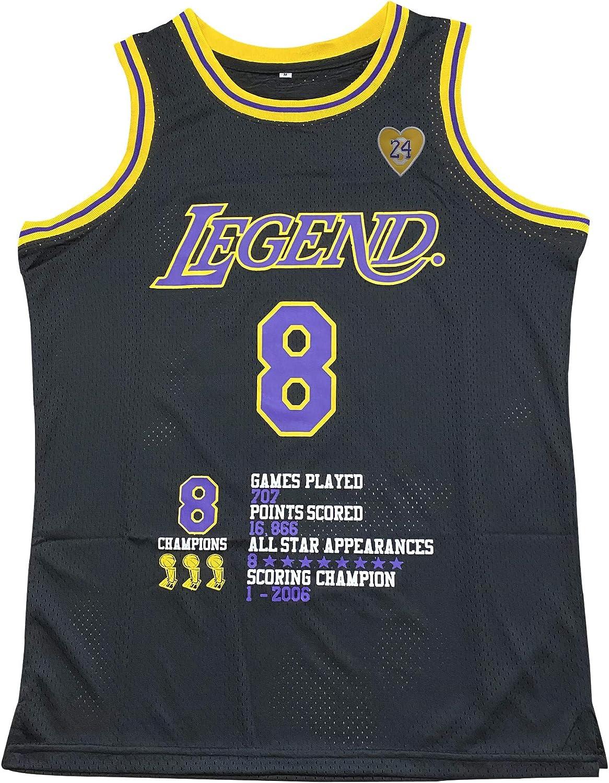 Mens Legend 8 Mamba 24 Bryant Basketball Jerseys Yellow Black
