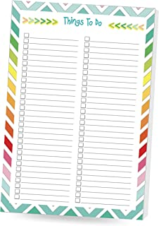 3 DAY SALE- 50 %OFF!! MULTI FEATURED TO DO LIST 6 x 9 Notepad, Colorful Sophisticated Design, 50 sheets per pad, (BB: 2 pack Things to Do List)