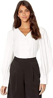 Women's Button Down Long Sleeve Woven Top