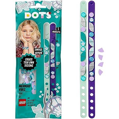 LEGO Dots 41909 LesBraceletsSirènes, Kit Création Bijoux DIY, Loisirs Créatifs et Bricolage pour Enfant de 6 Ans et Plus
