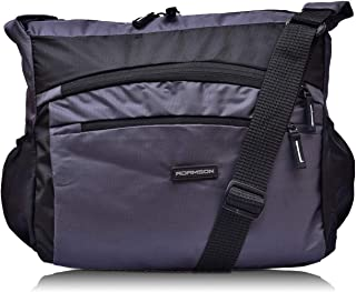 Adamson Unisex Polyester Front Double Pockets Blue Side Bag