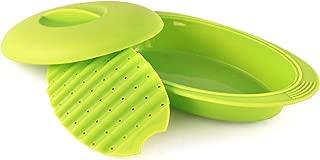 Sivita. Papillote de silicona - estuche de vapor verde de 28 cm - especial microondas