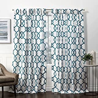 """Exclusive Home Curtains 96"""" Length Green EH8411-04 2-96P"""