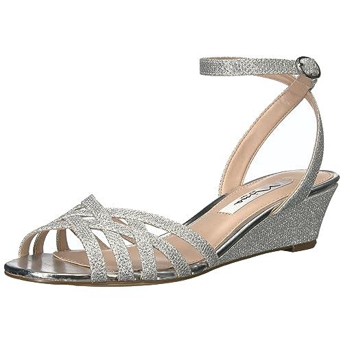 a220e5fa0636b Silver Wedge Shoes: Amazon.com