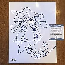 Dave Matthews Autographed Signed Memorabilia 8.5X11 Hand Drawn Sketch Art Bas Beckett COA