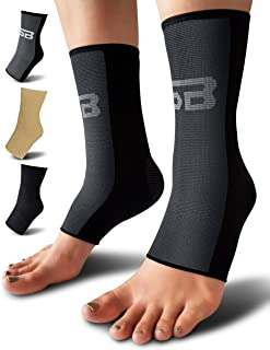 SB SOX Compression Ankle Brace (Pair) – Great Ankle Support That Stays in Place – For..