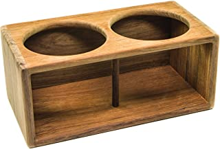 Whitecap 62612 Teak Two Insulted Drink Rack