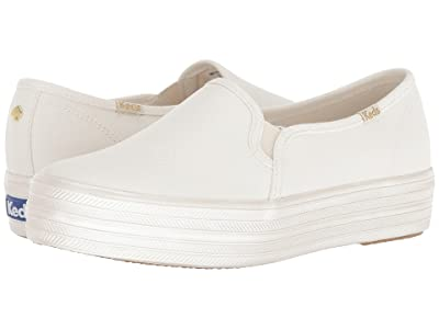 Keds x kate spade new york Bridal Triple Decker Pearlized Foxing (Pristine Metallic Canvas) Women