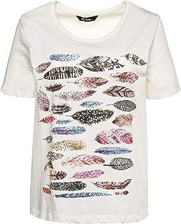 1f6f028272be2 Ulla Popken Femme Grandes Tailles T-Shirt col Rond imprimé Devant en Coton  716188