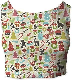Rainbow Rules Hidden Mickeys Colorful Retro Disney Christmas Sleeveless Crop Top