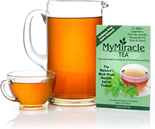 My Miracle Tea - Colon Cleanse, Constipation Relief, and All-Natural Detox Tea - 1 Month Supply (Makes 4 Gallons)