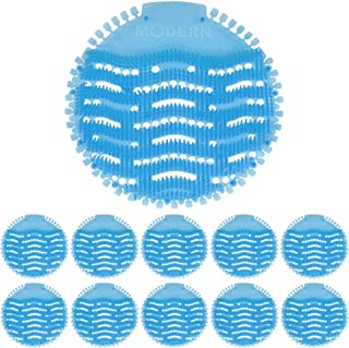 Urinal Screen & Deodorizer (10-Pack) by Modern Industrial - Fits Most Top Urinal Brands at Restaurants, Offices, Schools, etc. (Blue Mist)