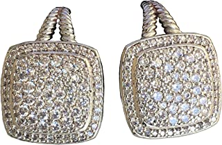 Designer Inspired Albion LARGE Stud Earrings with 4.86Ct Diamonds, 17mm