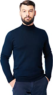 Sponsored Ad - Men's Merino Wool Mock Turtleneck Sweater Classic Midweight Long Sleeve Pullover