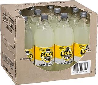 Solo Lemon Zero Sugar Soft Drink, 12 x 1.25L